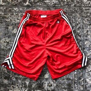 Champion Red Lacrosse Shorts Medium
